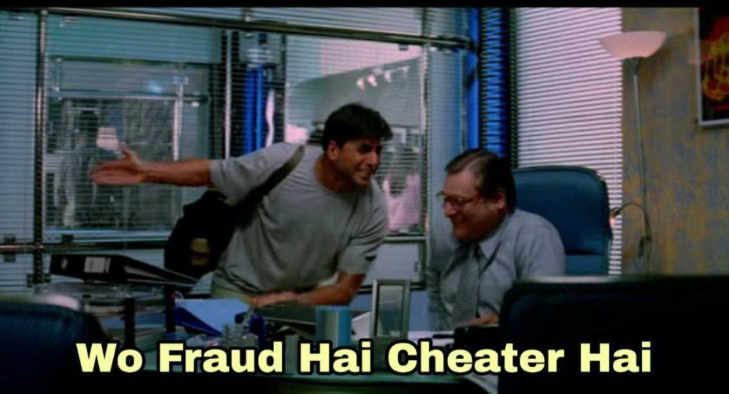 wo fraud hai cheater hai garam masala akshay kumar