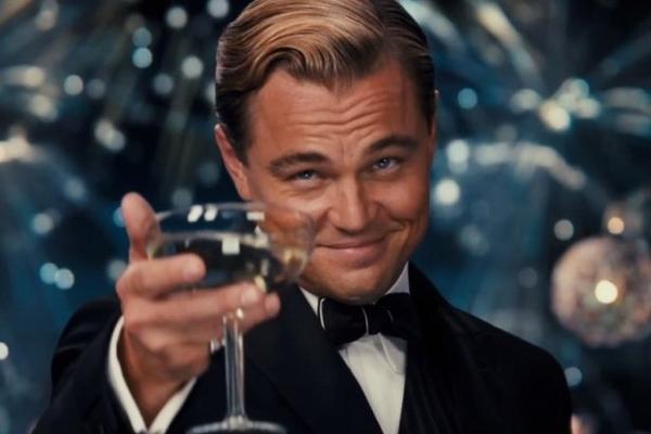Leonardo-Dicaprio-Cheers wolf of the wall street meme template