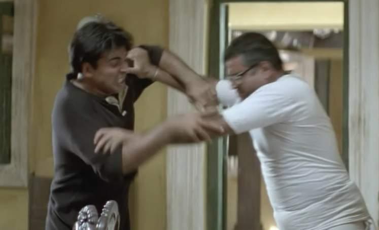 raju and babu rao fighting hera pheri meme templates