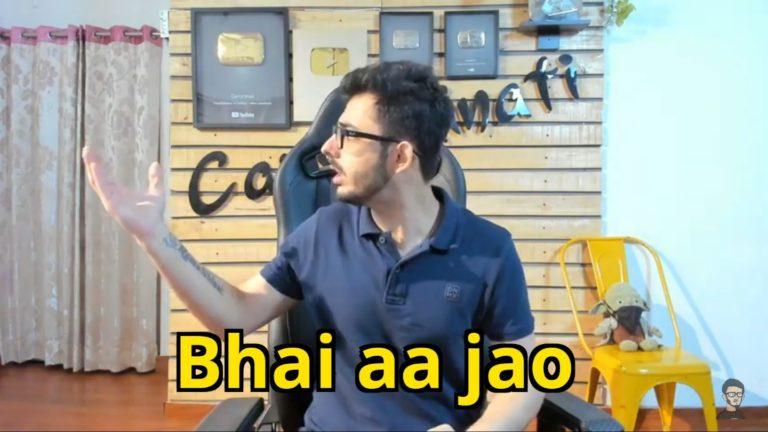 bhai aa jao carryminati meme template