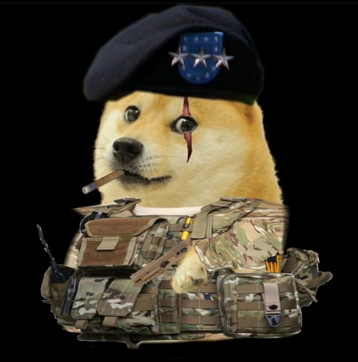 doge as army man meme template