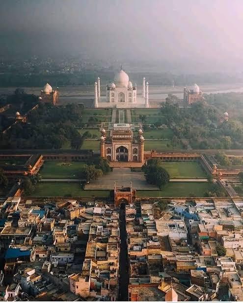 taj mahal aerial view meme template