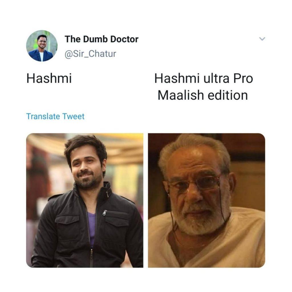 Hashmi ultra Pro maalish editio mirzapur meme