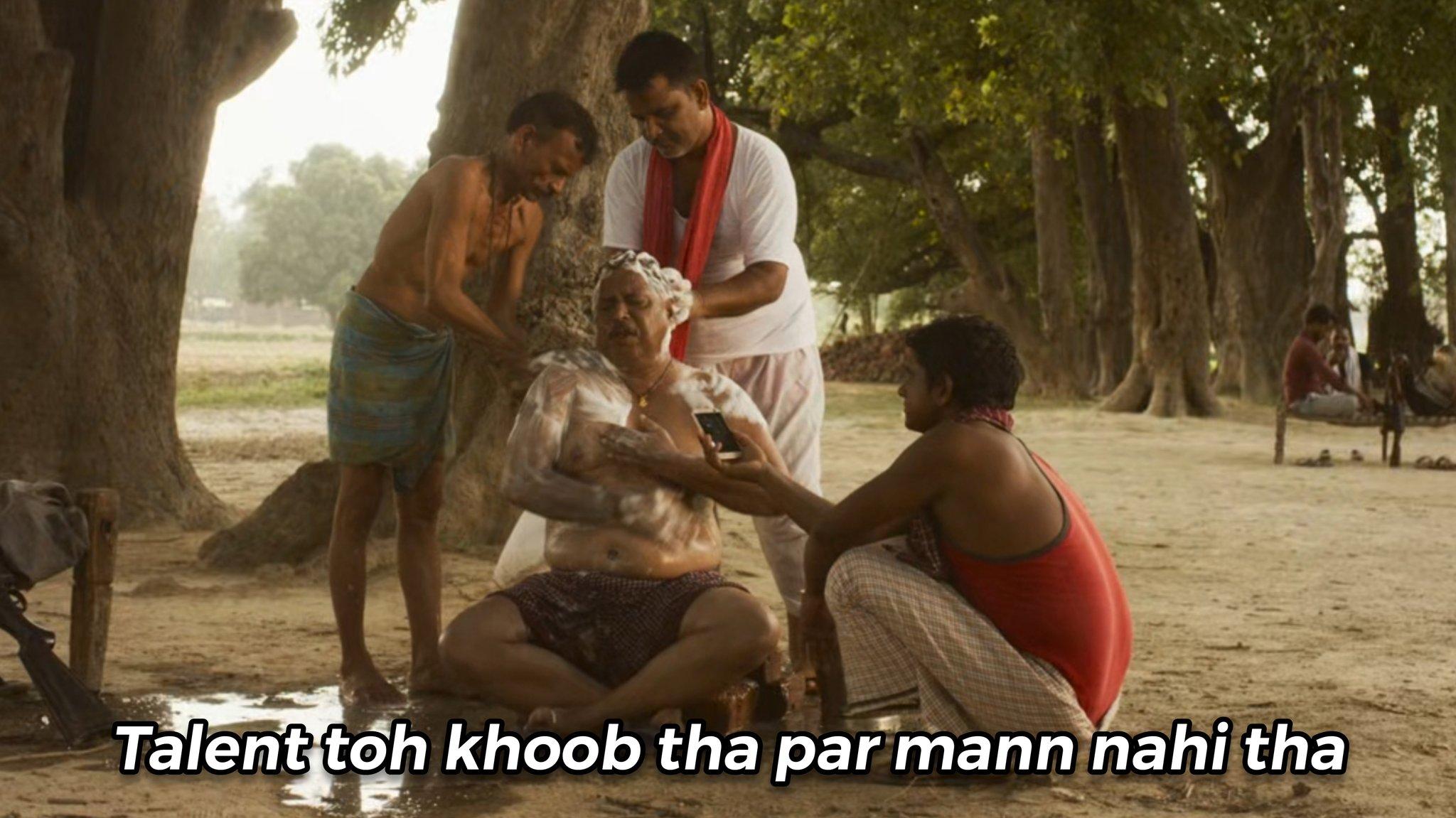 talent toh khoob tha par man nhi tha Mirzapur 2 meme template