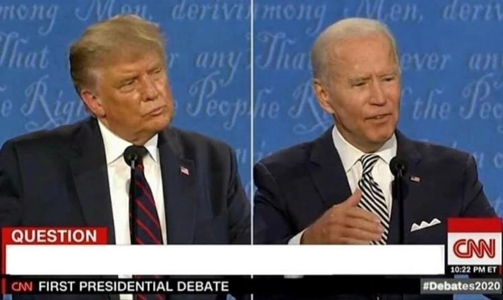 Presidential Debate Parody Questions trump vs Biden meme template
