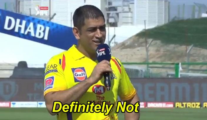 definitely not ms dhoni ipl meme template