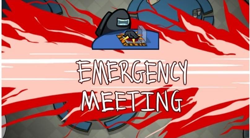 emergency meeting among us meme template