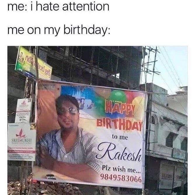 happy birthday meme for me