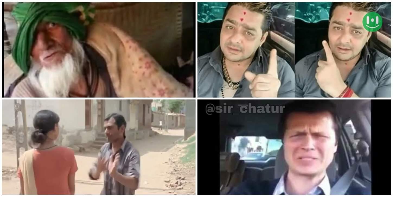 chal nikal meme template collage