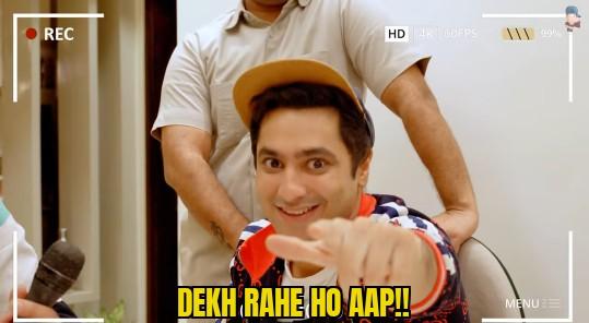 dekh rahe ho aap harsh Beniwal meme template