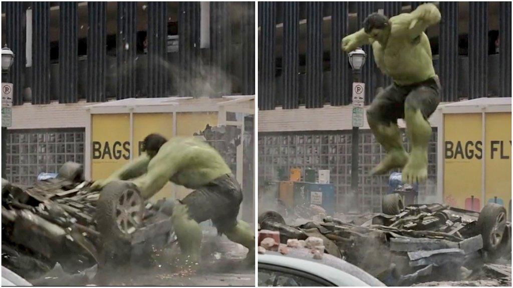 hulk crushing cars meme template