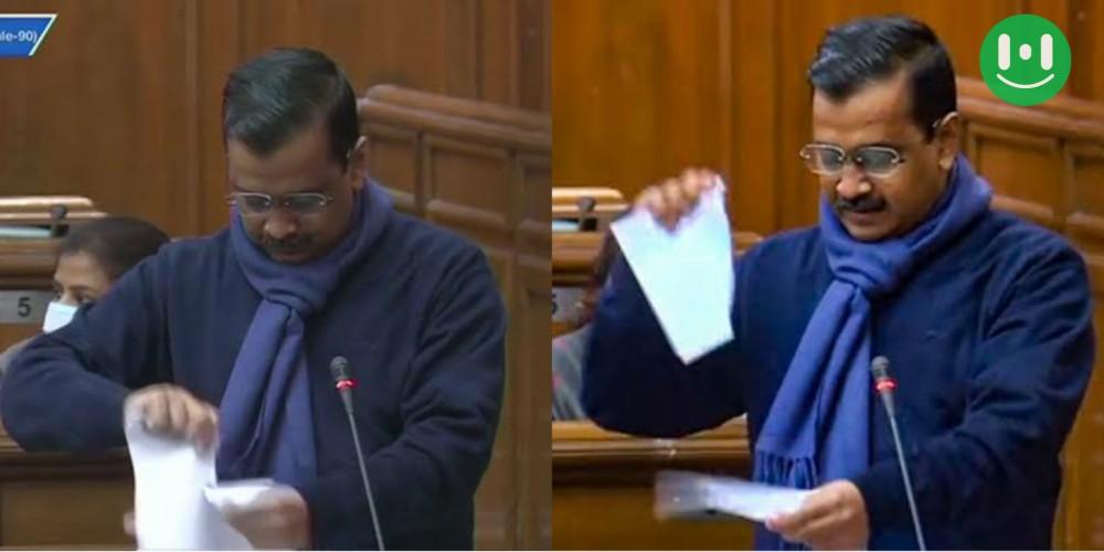 kejriwal tearing paper meme template images