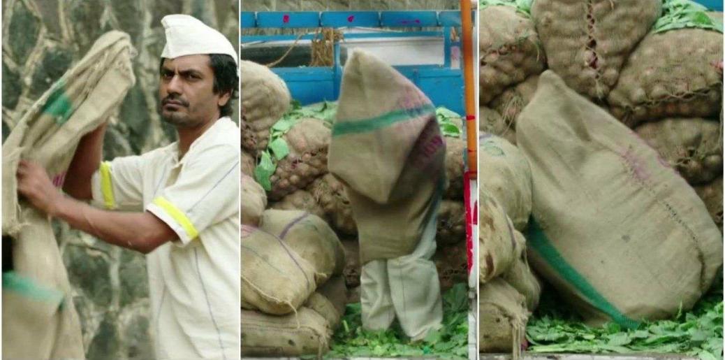 nawaz hiding in a bori sack meme template
