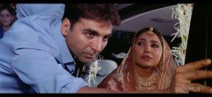 akshay Kumar pushing car vidaai scene meme template