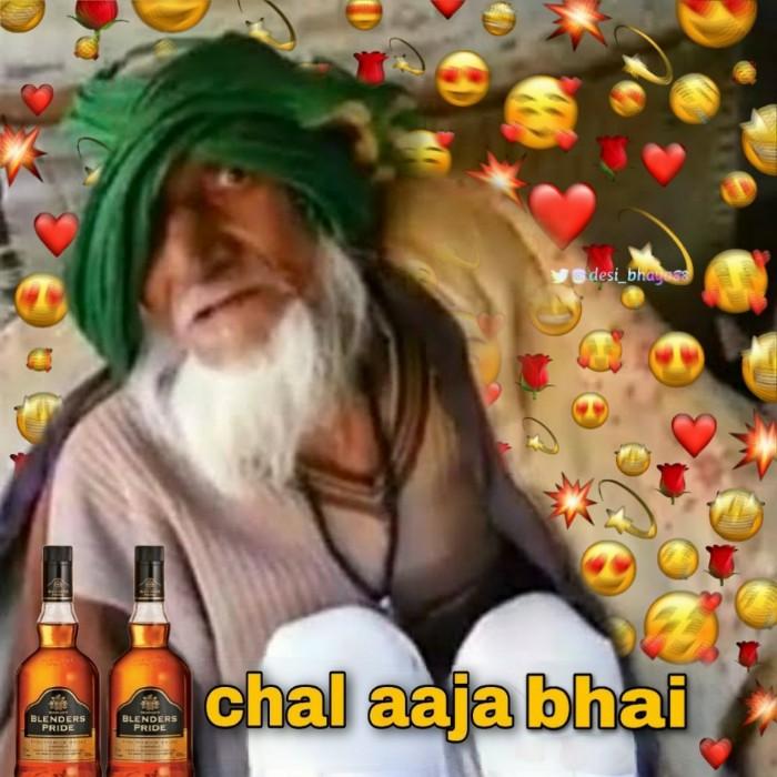chala aja bhai meme template