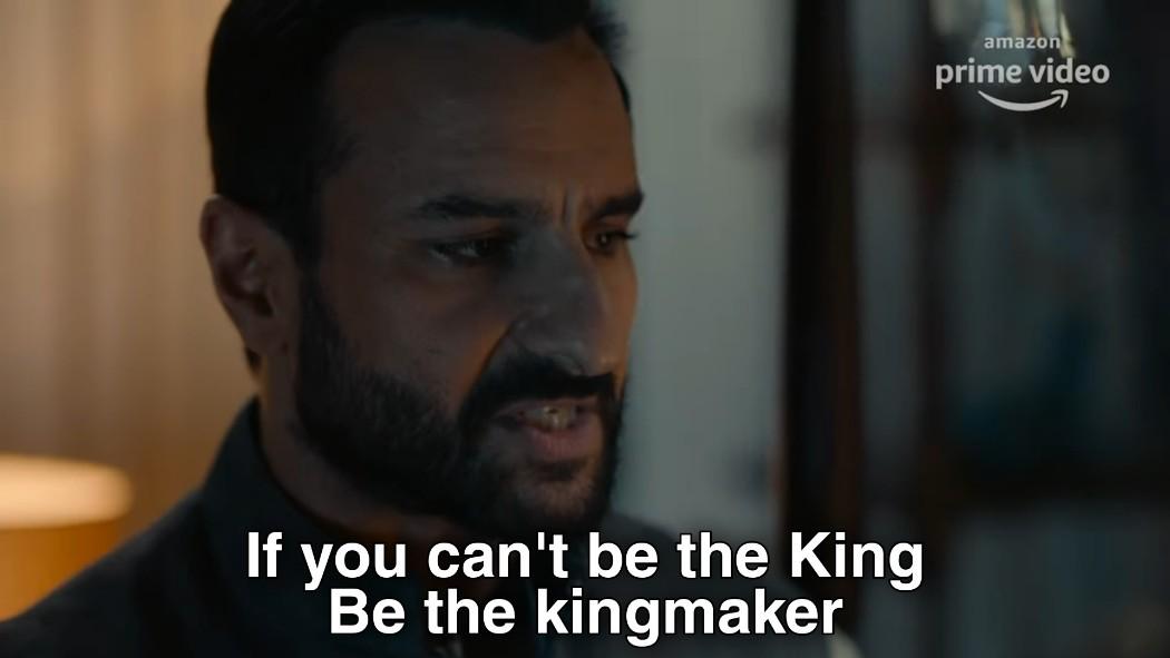 if u cant be the king be the king maker tandav meme template