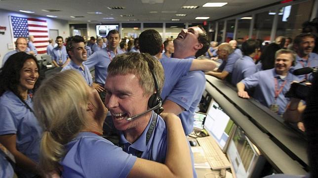 nasa employees hugging whatsapp headquarter meme template
