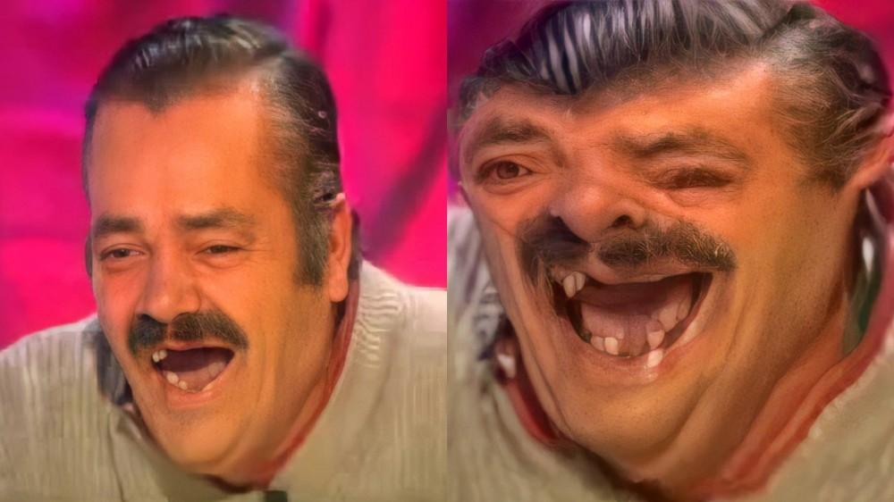 old man laughing meme template