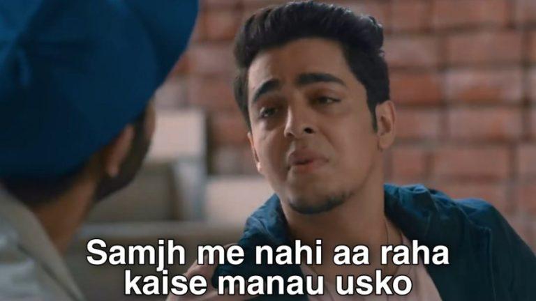 samaj mein nahi aa raha kese manau usko college romance meme template