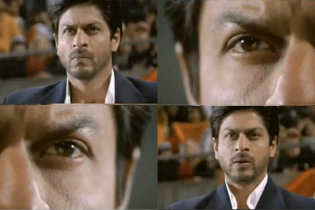 shahrukh khan guessing next move chak de india meme template