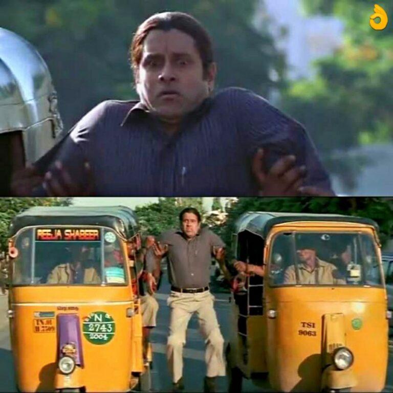 ambi hanging between two riksha meme template