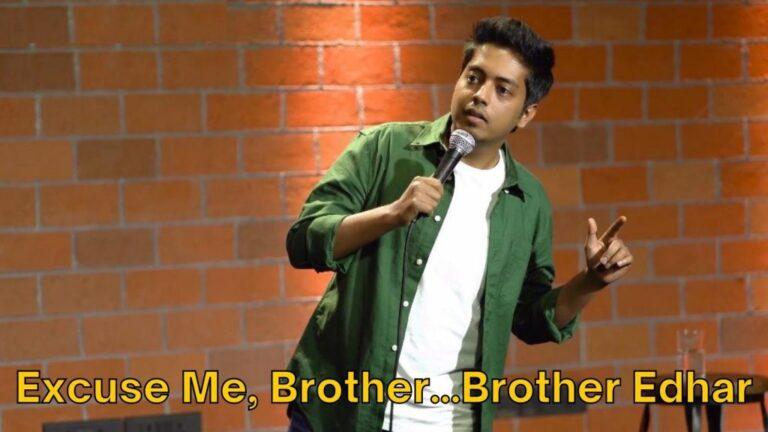 excuse me brother brother idhar aakash gupta meme template