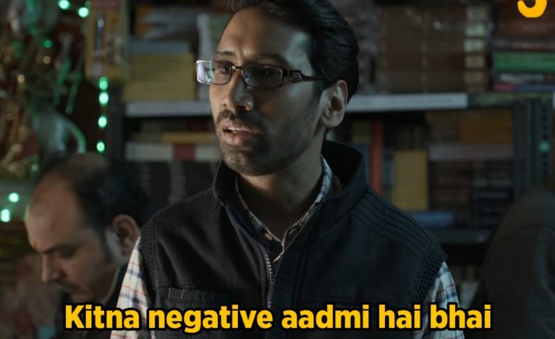 kitna negative admi hai bhai tvf aspirant meme template