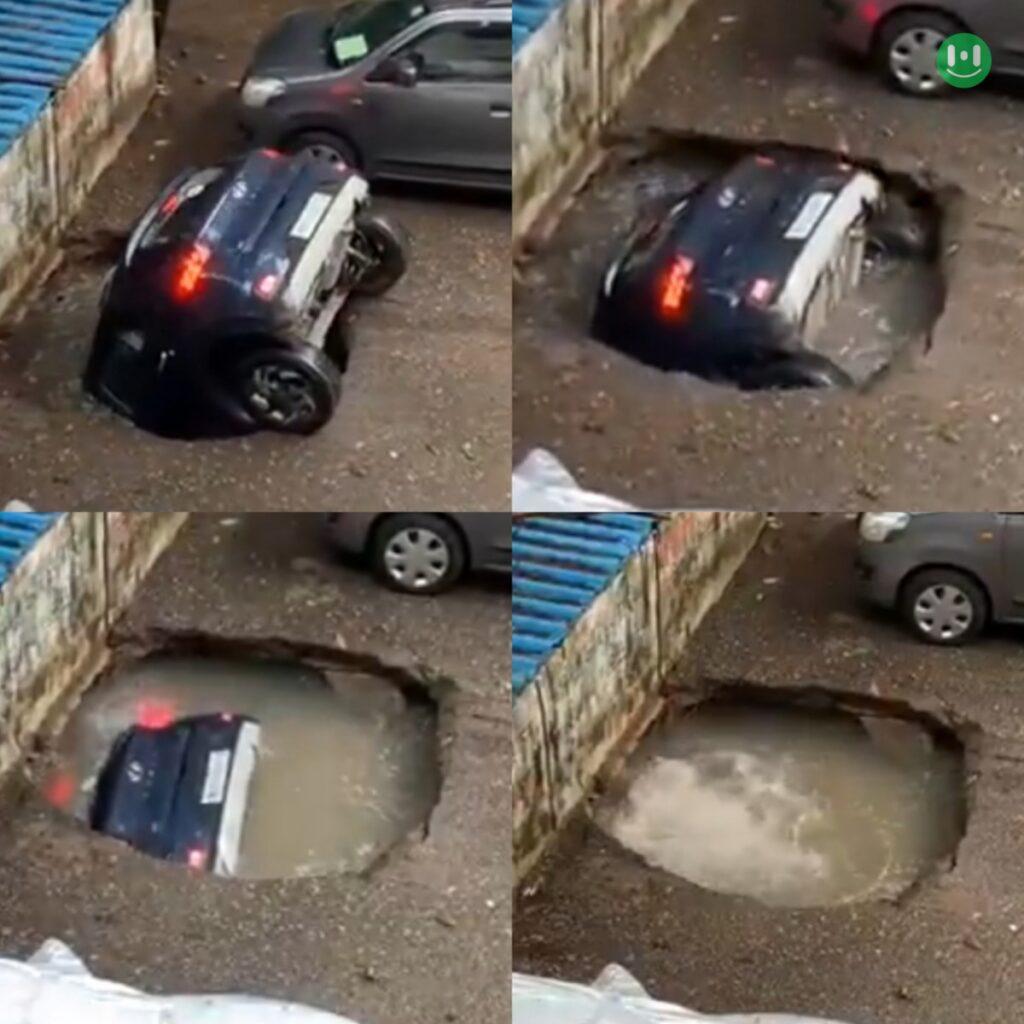 car sinking meme template