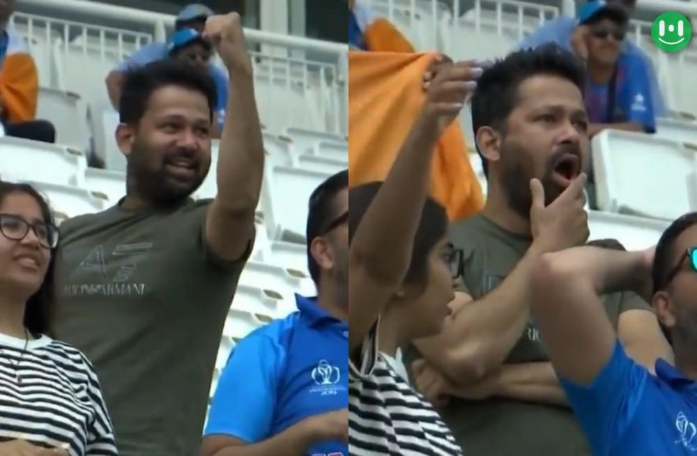 cricket fan celebrating vs shocked meme template