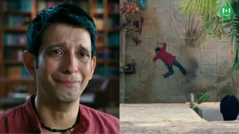 raju jumping from building scene 3 idiots meme template