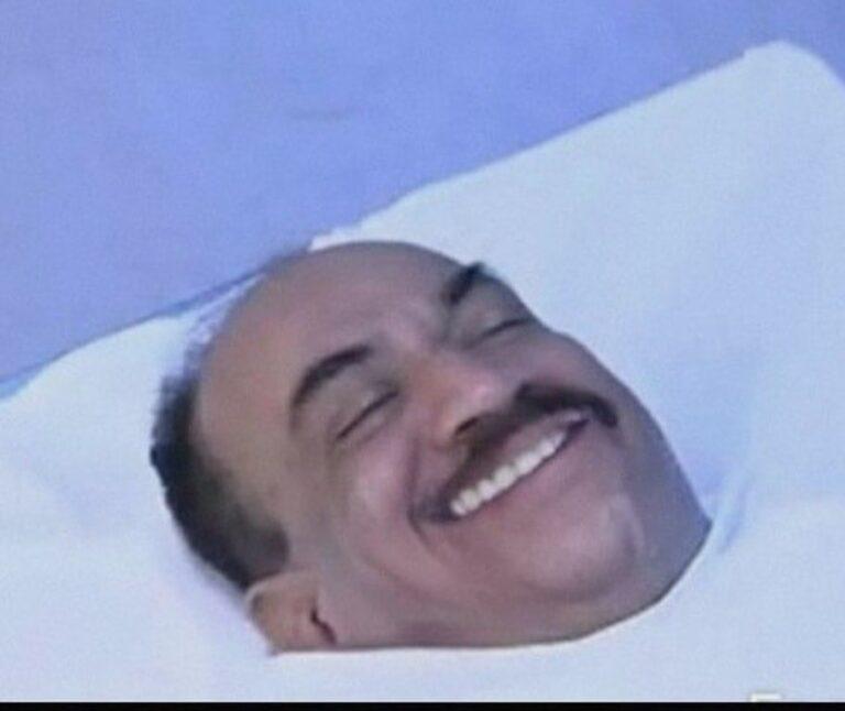 acp pradyuman smiling while acting dead cid meme template